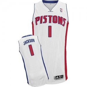 NBA Pistons 1 Reggie Jackson White Men Jersey