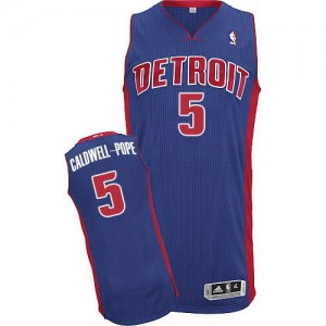 NBA Pistons 5 Kentavious Caldwell-Pope Blue Men Jersey
