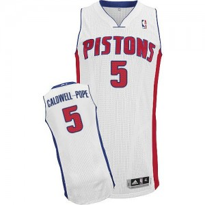 NBA Pistons 5 Kentavious Caldwell-Pope White Men Jersey