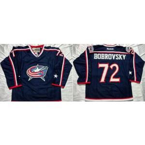 NHL Blue Jackets 72 Sergei Bobrovsky Navy Blue Home Men Jersey
