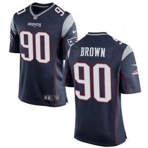 Nike Patriots 90 Malcom Brown Navy Blue Team Color Youth Stitched NFL New Elite Jersey