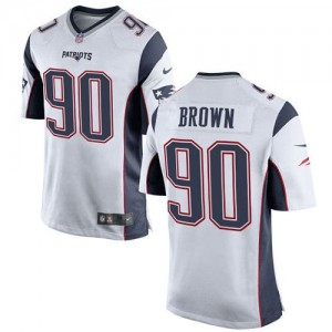 Nike Patriots 90 Malcom Brown White Youth Stitched NFL New Elite Jersey