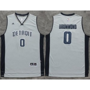 NBA Pistons 0 Andre Drummond Gray Men Jersey