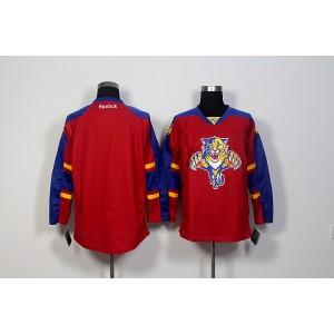NHL Panthers Blank Red Reebok Men Jersey