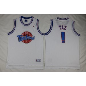 Space Jam Tune Squad Taz Devil Basketball White Movie Jersey
