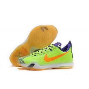 Nike Kobe 10 Green Orange Basketball Mens Shoes