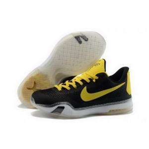 Nike Kobe 10 Black Yellow Basketball Mens Shoes
