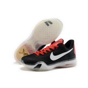 Nike Kobe 10 Black White Red Basketball Mens Shoes