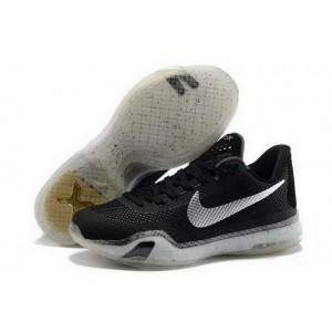 Nike Kobe 10 Black Silver Basketball Mens Shoes