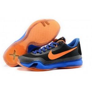 Nike Kobe 10 Black Orange Blue Basketball Mens Shoes