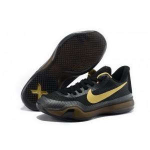 Nike Kobe 10 Black Gold Basketball Mens Shoes