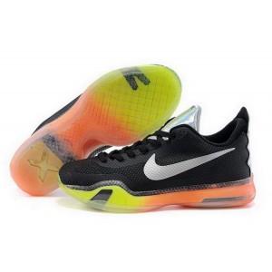 Nike Kobe 10 All Star Black White Green Orange Basketball Mens Shoes