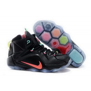 Nike Lebron 12 Black Orange Basketball Mens Shoes
