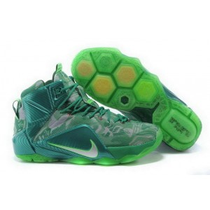 Nike Lebron 12 All Green Basketball Mens Shoes