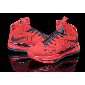 Nike Lebro 10 Red Black Basketball Mens Shoes