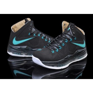 Nike Lebro 10 Black Blue Basketball Mens Shoes