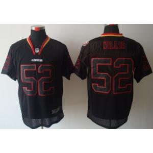 Nike San Francisco 49ers No.52 Patrick Willis Lights Out Black Elite Jersey