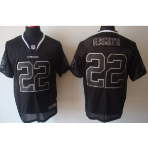 Nike Dallas Cowboys No.22 Emmitt Smith Lights Out Black Elite NFL Jersey
