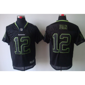 Nike Seattle Seahawks No.12 Fan Lights Out Black Elite Jersey
