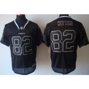 Nike Dallas Cowboys No.82 Jason Witten Lights Out Black Elite NFL Jersey