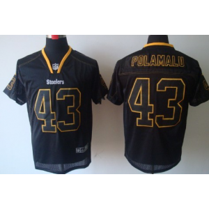 Nike Pittsburgh Steelers No.43 Troy Polamalu Lights Out Black Elite Jersey