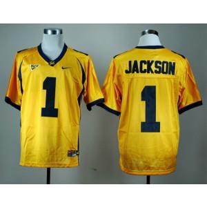 NCAA California Golden Bears 1 DeSean Jackson Gold Men Jersey