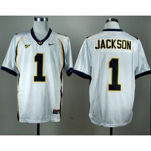 NCAA California Golden Bears 1 DeSean Jackson White Men Jersey