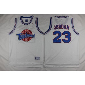 Space Jam Tune Squad 23 Michael Jordan White Stitched Basketball Jersey