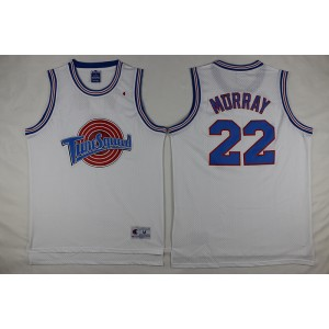 Space Jam Tune Squad 22 Bill Murray White Movie Stitched Basketball Jersey