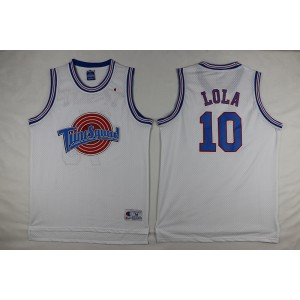 Space Jam Tune Squad 10 Lola Bunny White Movie Stitched Basketball Jersey