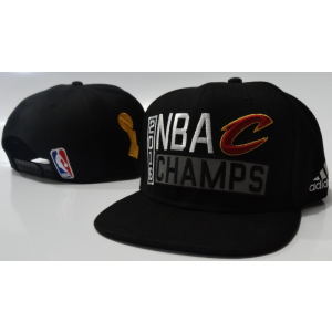NBA Cavaliers Black 2016 Finals Champions Locker Room Snapback Adjustable Hat