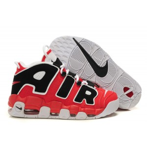 Nike Air More Uptempo Chaussures Shoes Black Red