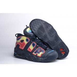 Nike Air More Uptempo Chaussures Shoes Rainbow Black