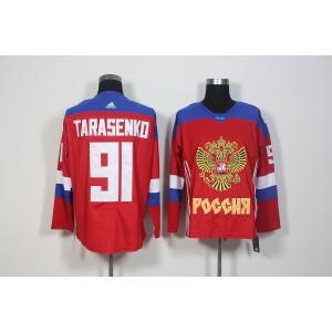 Team Russia 91 Vladimir Tarasenko Red 2016 World Cup Hockey Jersey