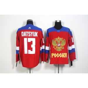 Team Russia 13 Pavel Datsyuk Red 2016 World Cup Hockey Jersey
