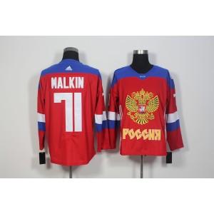 Team Russia 71 Evgeni Malkin Red 2016 World Cup Hockey Jersey