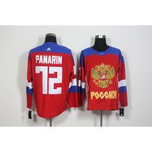 Team Russia 72 Artemi Panarin Red 2016 World Cup Hockey Jersey