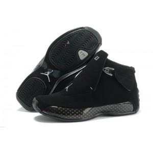 Air Jordan 18 Full Black shoes