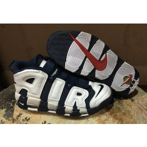 Nike Air More Uptempo Chaussures Shoes White Blue