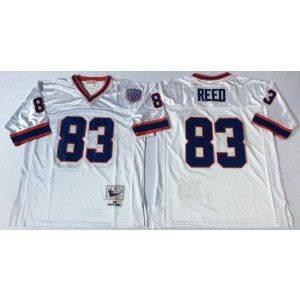 NFL Mitchell&Ness Buffalo Bills 83 Andre Reed White Throwback Jersey