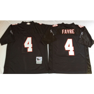 Mitchell&Ness Atlanta Falcons 4 Brett Favre Black Throwback Jersey