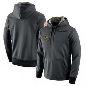 NFL Chicago Bears Nike Anthracite Salute to Service Player Performance Hoodie