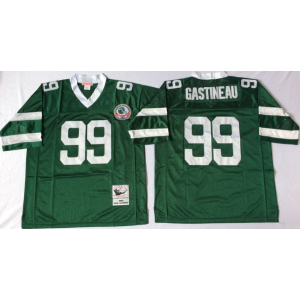 NFL Mitchell&Ness New York Jets 99 Mark Gastineau Green Throwback Jerseys