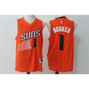 NBA Suns 1 Devin Booker 2016 Alternate Orange New Swingman Men Jersey