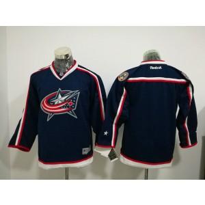 NHL Blue Jackets Blank Blue Men Jersey