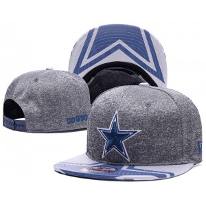 NFL Cowboys Team Logo Heathered Gray Adjustable Hat