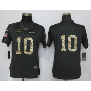 Nike Bears 10 Mitchell Trubisky Anthracite Salute to Service Limited Women Jersey
