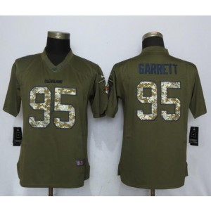 Nike Browns 95 Myles Garrett Green Salute to Service Limited Women Jersey
