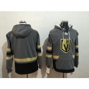 NHL Vegas Golden Knights Blank Gray All Stitched Hooded Men Sweatshirt