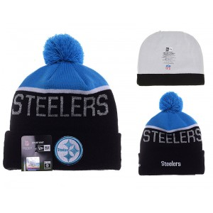 NFL Steelers Team Logo Blue & Black Knit Hat YD